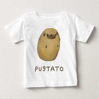 Camiseta Para Bebê Batata do Pug de Pugtato