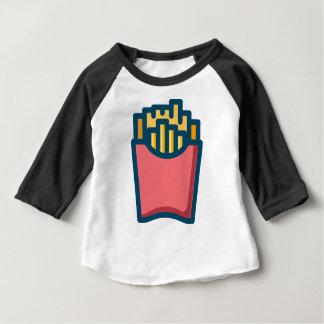 Camiseta Para Bebê Batatas fritas