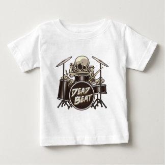 Camiseta Para Bebê Baterista de esqueleto engraçado