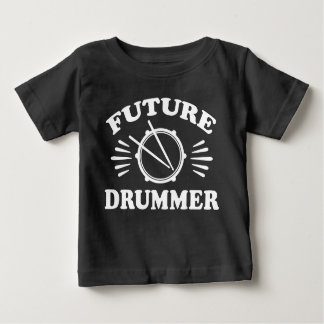 Camiseta Para Bebê Baterista futuro