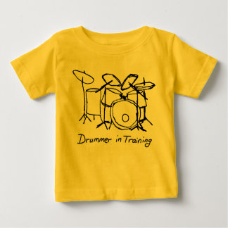 Camiseta Para Bebê Baterista no treinamento