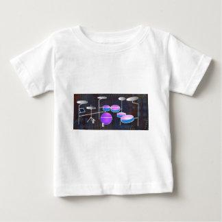 Camiseta Para Bebê Batida do cilindro