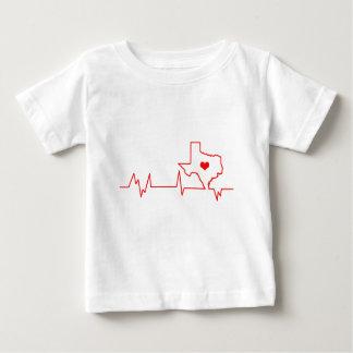 Camiseta Para Bebê Batimento cardíaco de Texas