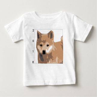 Camiseta Para Bebê Bebê 2018 do ano do cão da ilustração de Shiba Inu