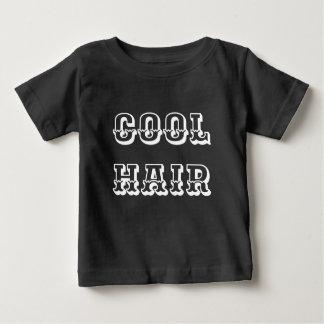 Camiseta Para Bebê Bebê, cores escuras do cabelo legal