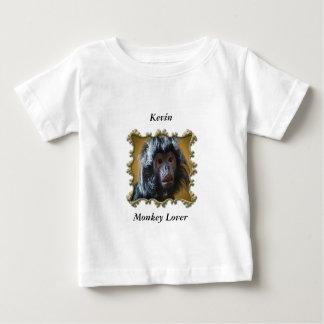 Camiseta Para Bebê Bebê curioso bonito do macaco com pele macia