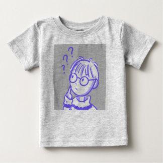 Camiseta Para Bebê Bebê curioso do t-shirt do menino
