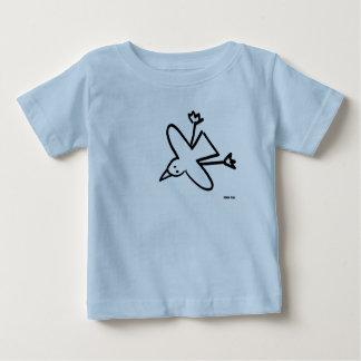 Camiseta Para Bebê Bebê da arte: Desenho da gaivota do tintureiro de