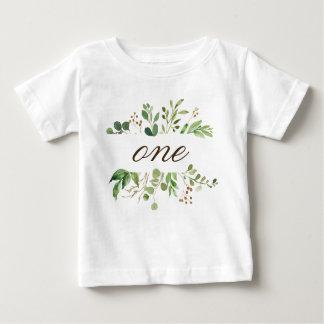 Camiseta Para Bebê Bebê do bebê de um ano das hortaliças