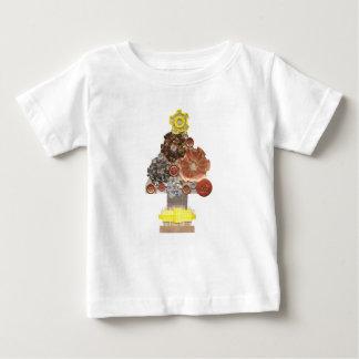 Camiseta Para Bebê Bebê do fundo de Steampunk árvore o t-shirt de