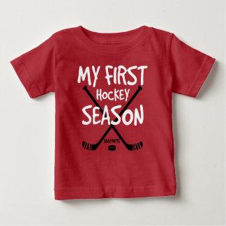 Camiseta Para Bebê Bebê do hóquei minhas primeiras varas de hóquei da