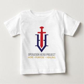 Camiseta Para Bebê Bebê do t-shirt do projeto do herói da operação