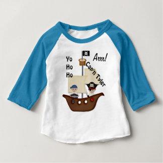 Camiseta Para Bebê Bebê do tesouro do navio de pirata