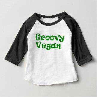 """Camiseta Para Bebê """"Bebê do vegan Groovy"""""""