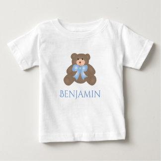 Camiseta Para Bebê Bebé doce Pastel bonito do urso de ursinho da fita