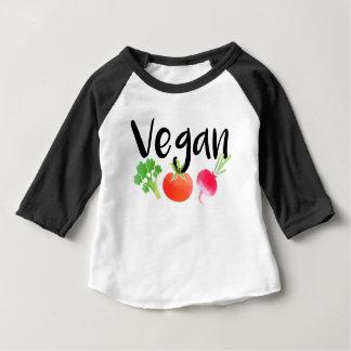 """Camiseta Para Bebê Bebê dos vegetarianos do """"Vegan"""""""