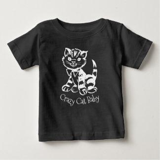 Camiseta Para Bebê Bebê louco do gato