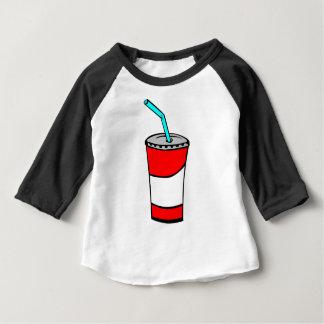 Camiseta Para Bebê Bebida do fast food
