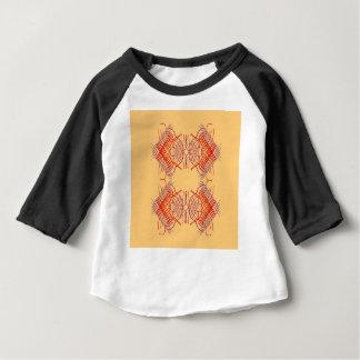 Camiseta Para Bebê Bege vermelho exótico dos elementos do design