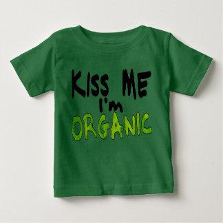 Camiseta Para Bebê Beije-me Im orgânico