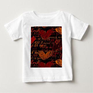 Camiseta Para Bebê Beije-me senhorita Me Vermelho