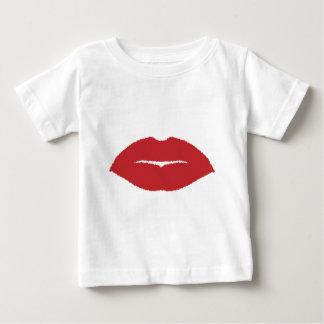 Camiseta Para Bebê Beijo isolado do bordo