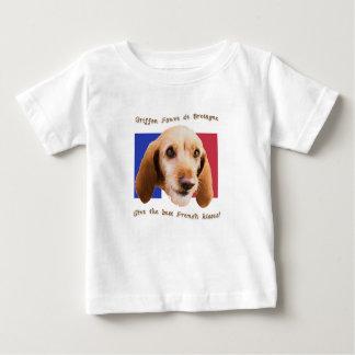 Camiseta Para Bebê Beijos do francês de Griffon Fauve de Bretagne