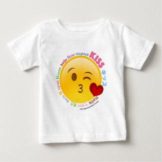 Camiseta Para Bebê Beijos do mundo inteiro