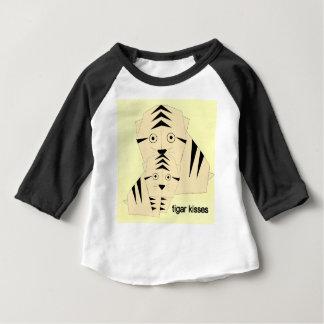 Camiseta Para Bebê beijos do tigre