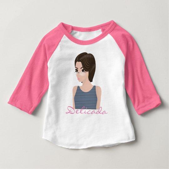 Camiseta Para Bebê Bela e delicada