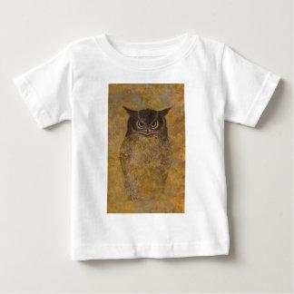 Camiseta Para Bebê Belas artes do japonês da coruja