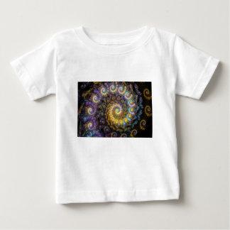 Camiseta Para Bebê Beleza do fractal do nautilus