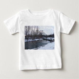 Camiseta Para Bebê Beleza James River da neve
