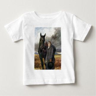 Camiseta Para Bebê Beleza preta - escolheu-me para seu cavalo