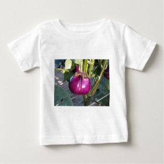 Camiseta Para Bebê Beringela redonda roxa que pendura na árvore