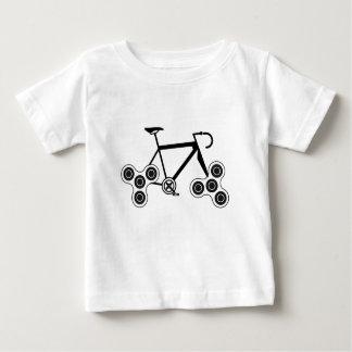 Camiseta Para Bebê Bicicleta do girador da inquietação