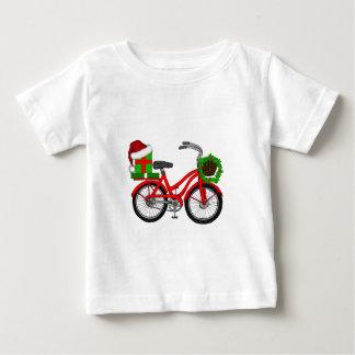 Camiseta Para Bebê bicicleta do xmas