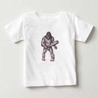 Camiseta Para Bebê Bigfoot que guardara o tatuagem ereto do clube