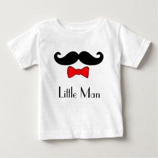Camiseta Para Bebê Bigode pequeno do homem e Bowtie vermelho