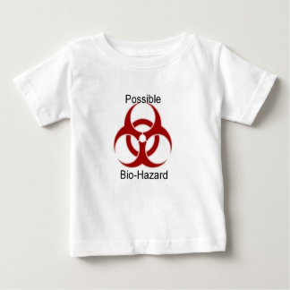 Camiseta Para Bebê Bio-Perigo para a parte superior do bebê