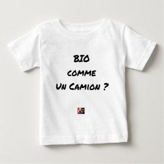 Camiseta Para Bebê BIOLÓGICO COMO UM CAMIÃO? - Jogos de palavras