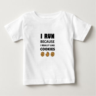 Camiseta Para Bebê Biscoitos para a saúde, corredor do funcionamento