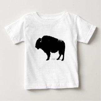 Camiseta Para Bebê Bisonte preto & branco do búfalo do pop art