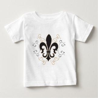 Camiseta Para Bebê black_gold Fleur