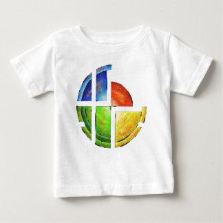Camiseta Para Bebê Blessinia - sol colorido