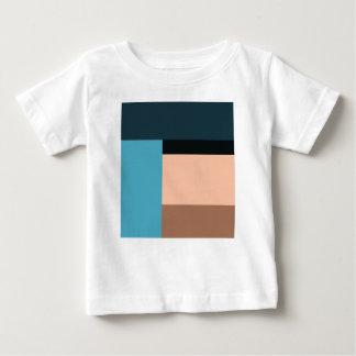 Camiseta Para Bebê Bloco da cor do sorvete