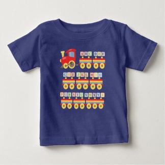 Camiseta Para Bebê Blocos do alfabeto do carregando do trem do