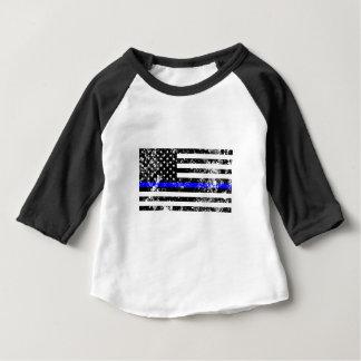 Camiseta Para Bebê Blue Line fino