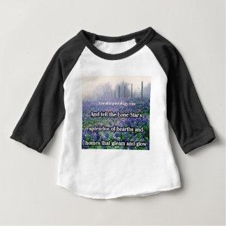 Camiseta Para Bebê Bluebonnet solitário do poema da árvore