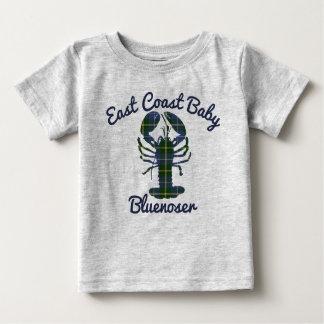 Camiseta Para Bebê Bluenoser de Nova Escócia da lagosta do bebê da